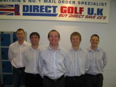 L to R: Neil Bell (Managing Director), Alex Fearnley (Logistics Director),  John Andrew (Chairman), Richard Haigh (Financial Director) & David Pickett (Operations Director)