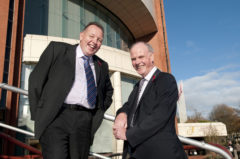 Eddie Reid and Sandy Jones at the Harrogate International Centre, home of the new golf trade show for all PGA professionals from October 2010