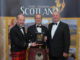 Golf Tourism Scotland chairman Nick Hunter and Euan Grant and Stewart Selbie from Turnberry Resort.