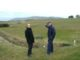Head of greens David Williams and head greenkeeper David Lewis show where the exhibition will be held