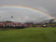 Ryder Cup 2010. A rainbow lights up the sky over the 14th green on the 2010 course at the Celtic Manor ©Steve Pope.