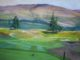 Gleneagles PGA Centenary Course 1st Hole, painted by Margaret Evans