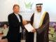 Bruce Glasco, Managing Director, Troon International Operations, with Sheikh Rashid bin Khalifa al Khalifa