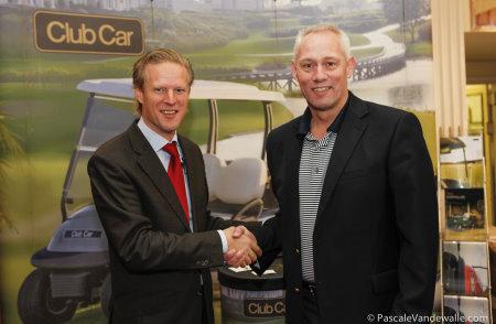EGCOA Director Lodewijk Klootwijk (left) with Club Car's Kevin Hart, Sales Director Golf – EMEIA (photo Pascale Vandewalle)