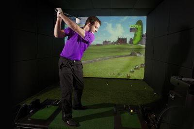 Celtic Manor Resort<br />Golfzon Golf Simulator<br />10.01.13<br />©Steve Pope