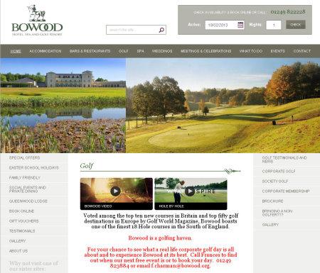 Bowood website screengrab