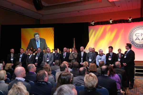 CMAA Meeting in Progress - Recognition of International Delegates (photo credit Bruce Mathews/ CMAA)