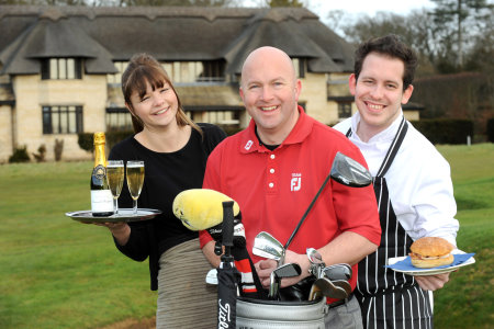 Meet the Team.... Drink, Golf and Food (from left) Larissa Thornhill, PGA Golf Professional Rich Alderson and the chef at The Pavilion Gary Keattch