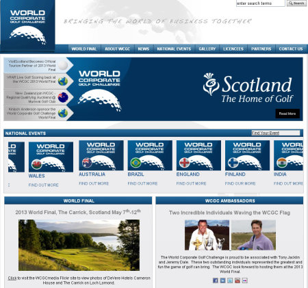 World Corporate Golf Challenge website