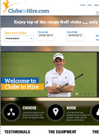 ClubstoHire website