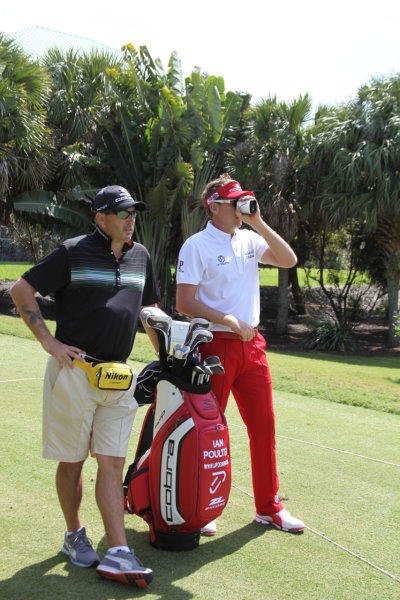Ian with COOLSHOT and caddie Terry Mundy