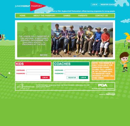 JGP homepage example