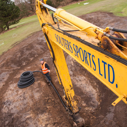 Souters Sports has recently carried out extensive drainage and bunker reshaping works at Dunikier Golf Club in Fife