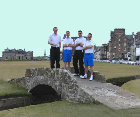 The St Andrews 189-Hole Challengers: (l-r) Graeme Dawson, Angus Watson, Ally Love & Gary Davidson