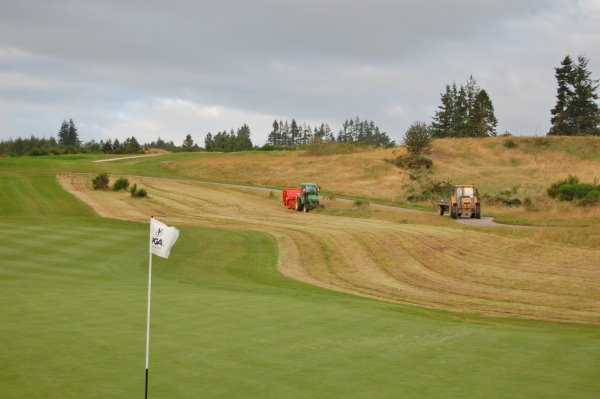 A Super 500 on rough management duty at Gleneagles