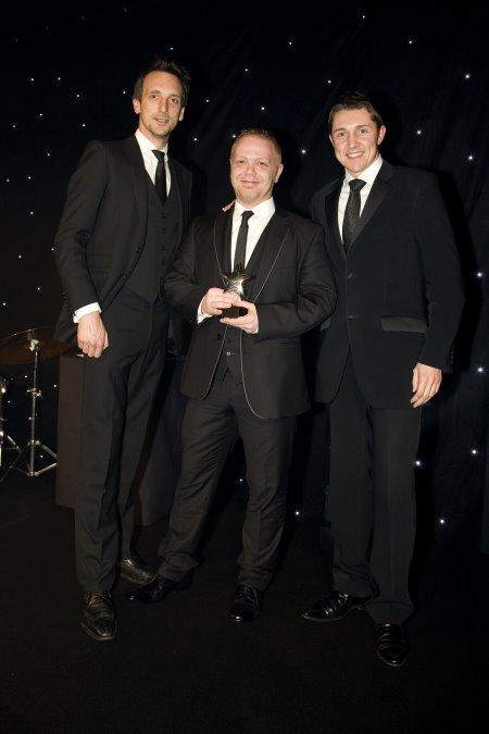 DGUK ECMOD award winners Neil Rowett (centre) and Steve Lewis (right)