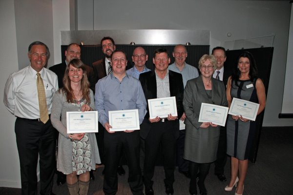 Pictured are all the graduates being presented with their qualification by Gregg Patterson, The Beach Club, Santa Monica, California, who is a renowned world speaker on all aspects of club management. John Donnelly, Balbirnie Park Golf Club, John Bryceland, Dullatur Golf Club, Tom Cummings, Kirkintilloch Golf Club, Paul Arthur, PGA Professional, Canmore Golf Club, Gary Abel, Elgin Golf Club, Anne Burnside, Cowglen Golf Club, Alan Rodger, Hirsel Golf Club, John Kemp – S.G.U. Club Development Officer, Claire Middleton – S.G.U. Club Development Officer, Jackie Davidson - Clubgolf Scotland Manager
