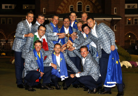 Europe's victorious 2012 Ryder Cup Team (© Getty Images)