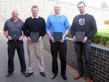 Everris Golf Day winning team of (l to r): Brian Wigham, Danny Burrows, Dave Jobey and James Kelledy