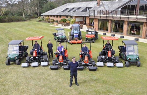 Gareth and his team with the new Jacobsen equipment