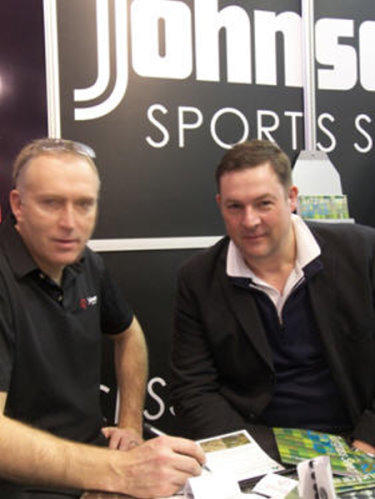 Jeremy Hindle, Wholesale Manager DLF UK & Ireland and Mark Booker on the DLF stand at BTME 2013