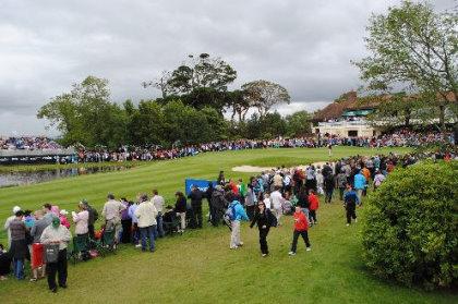Happier times: Hole 18 on Killeen Course at Irish Open 2011