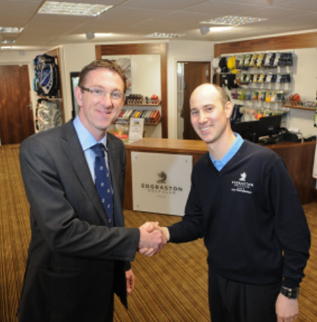 Adam Grint, General Manager (left) with David Fulcher, Director of Golf