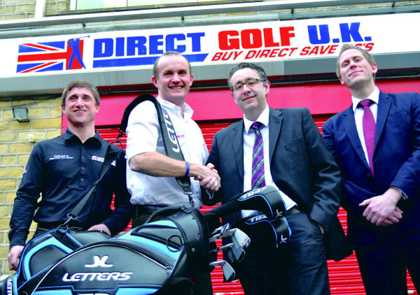 Neil Bell and John Andrew (DGUK) with Craig Bebbington and Andrew Croasdell (RBS)