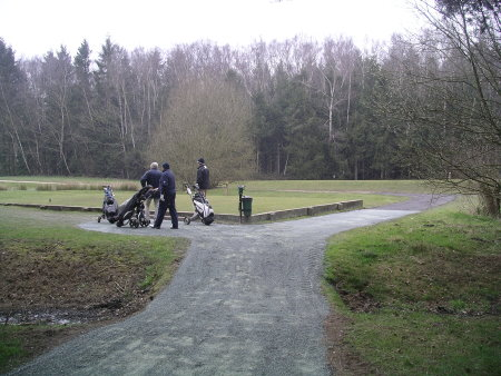 The new paths installed by Speedcut at Foxhills Golf Club and Resort