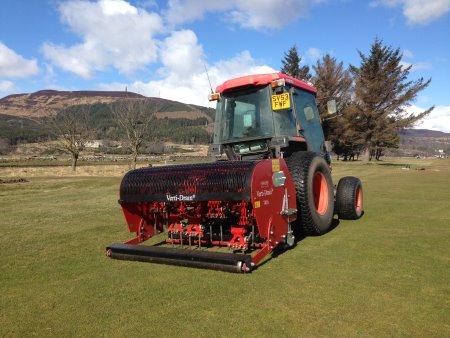 Verti-Drain 7416 at Golspie Golf Course