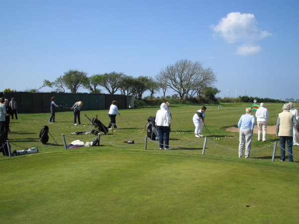 Ladies at South Pembrokeshire Golf Club as part of recent Golf Awareness Month initiatives.