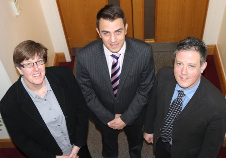 Sharon Bayton (left), Oliver Worts (centre) and Dan Hardie (right)(courtesy of Adrian Milledge)
