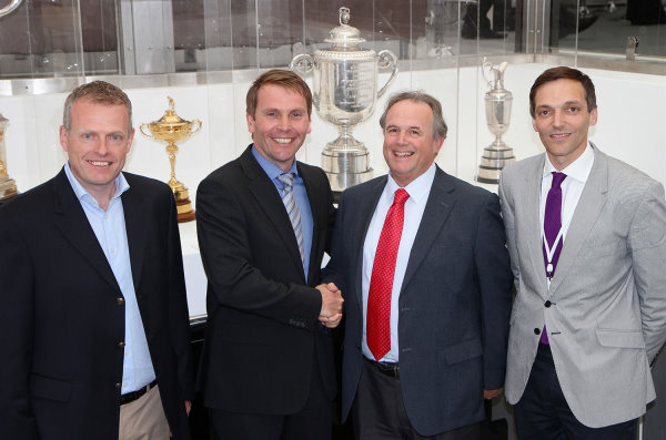 (left to right) Steve Hemsworth, managing director of Golfbreaks.com, PGA property & commercial director Rob Maxfield, Golfbreaks.com director of golf pro relations Jim Long and marketing director Keith Mitchell