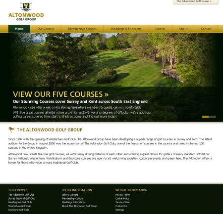 Altonwood Golf Group website