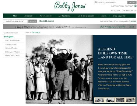 Bobby Jones website