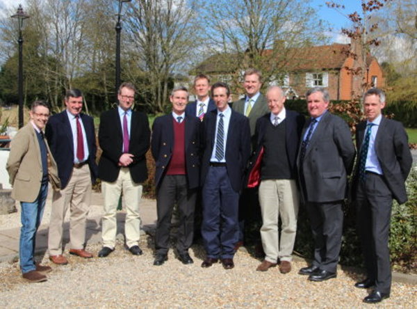Left to right Ben Allen (GVA Humberts Leisure); Alan Plumb (Savills); Tom Marriot (HMH Golf & Leisure); Charles Greville-Heygate (Strutt & Parker); Mark Smith (Smith Leisure); Martin Brister (GVA Humberts Leisure); Peter Gwilliam (Peter Gwilliam & Co); Nick Hopton (HMH Golf & Leisure); Hugh Wilkinson; Ian Simpson (Savills)