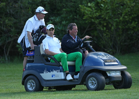 Club Car in action during the BMW PGA Championship play-off