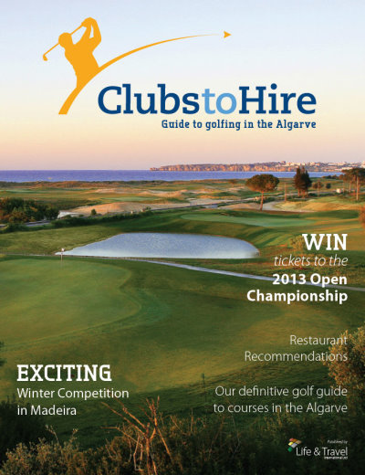 Front cover of the ClubstoHire Guide to Golf on the Algarve