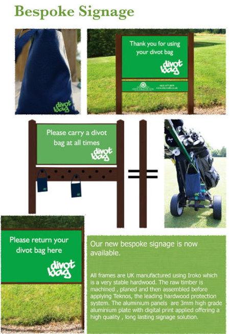 Divot Bag Bespoke Signage