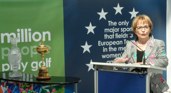 Doris Pack MEP, Chair of the Culture and Education Committee at the European Parliament, opens the 'Golf – A European Success' Exhibition in Brussels