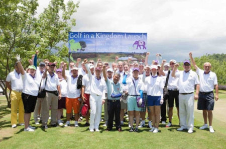 Media and tour operators pictured before the Golf In A Kingdom Cup was played at Siam Country Club's Plantation course.