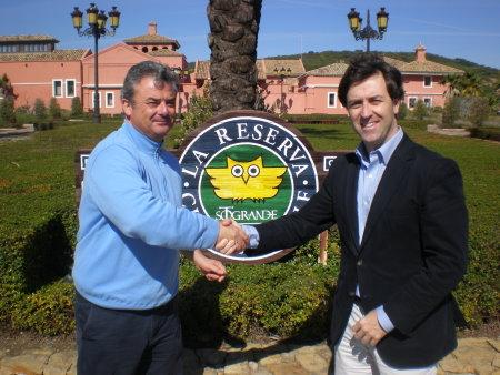 Ramon Luengo Martinez, Director General of Sotogrande S.A and Juan Alvarez, who is the GM at La Reserva