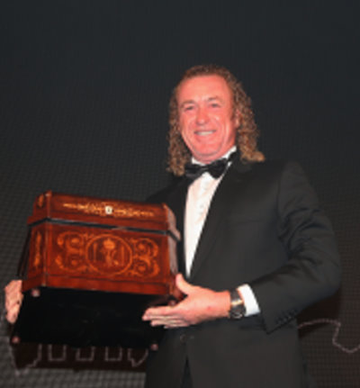 Jiménez was presented with a unique tantalus decanter containing a 600 year old whisky at the Players' Awards dinner on Tuesday night