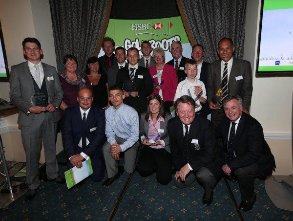 Proud winners with Ken Schofield