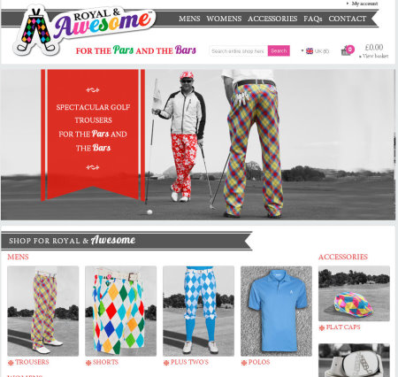 Royal and Awesome website