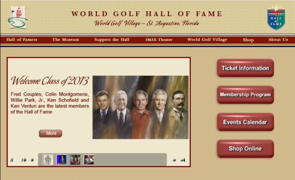 World Golf Hall of Fame website