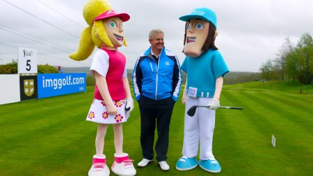 New2Golf mascots with Colin Montgomery