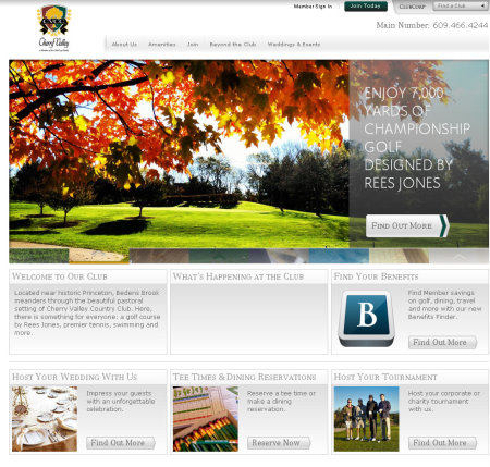 Cherry Valley Country Club website