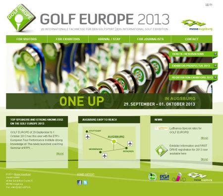 Golf Europe website