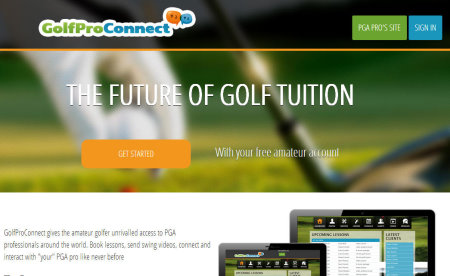 GolfPro Connect website